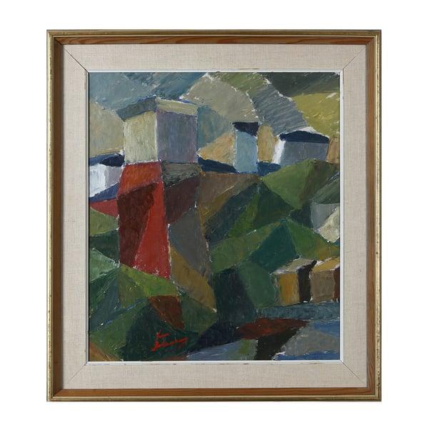 Image of Abstract, Swedish, Landscape Painting, SVEN JOHANSSON
