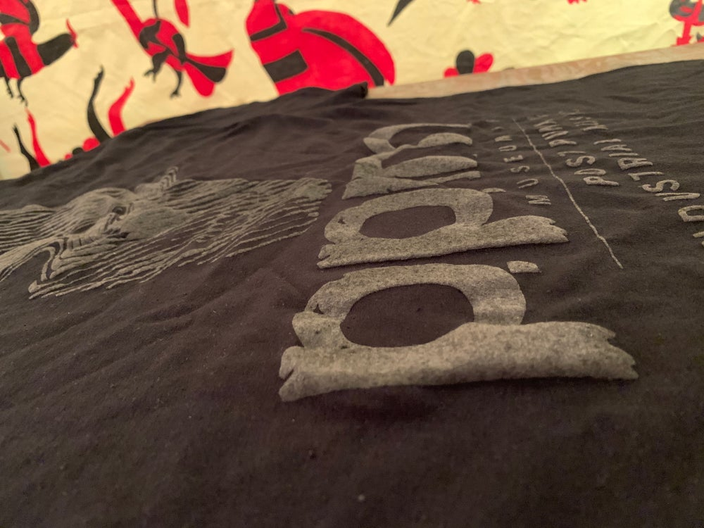 Image of Museum of Post Punk and Industrial Black on Black Puff Ink Shirt