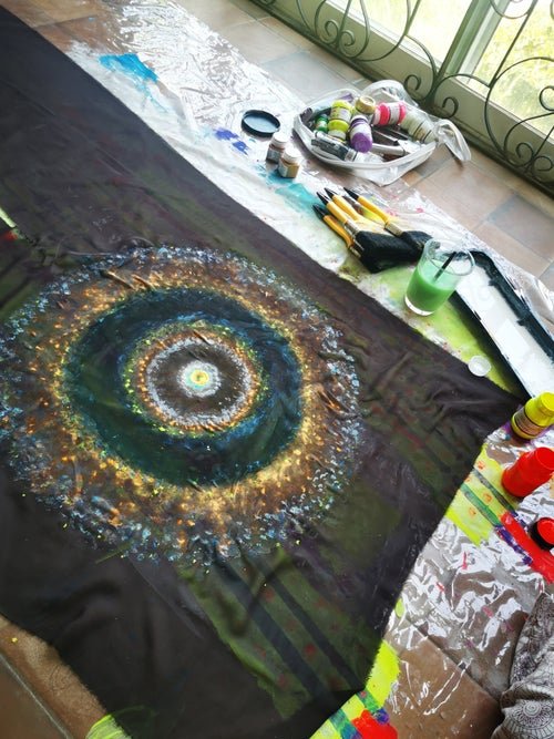 Image of Nebula Kimono Handpainted