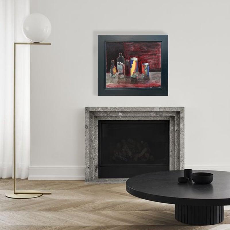 Image of Large, Mid-Century, Still Life Expressionist Painting, BENGT ÅGREN