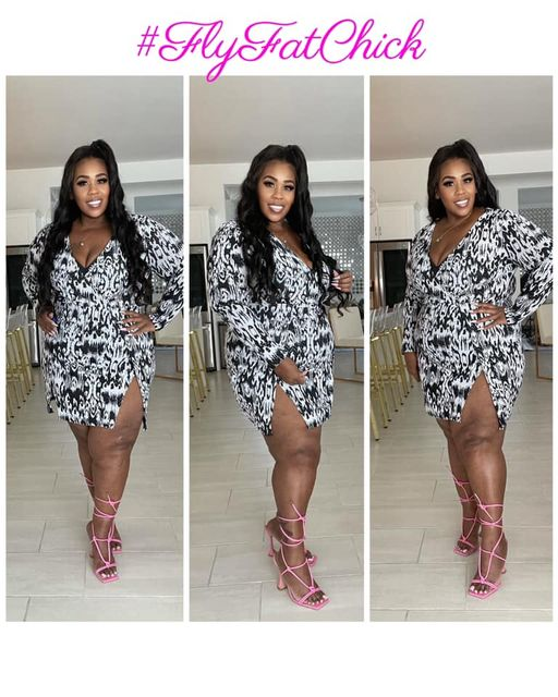 Image of THICK THIGHS THIN PATEIENCE DRESS