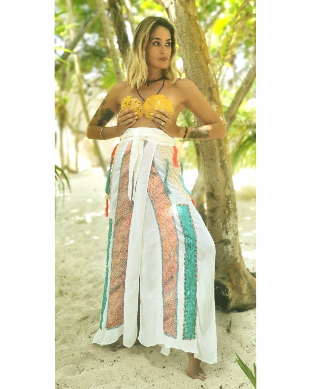 Image of Rainbow Shibori Fabric