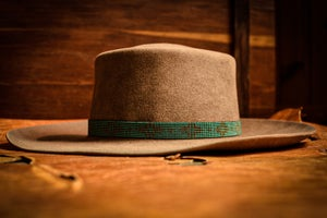 """Made to Order Hat Band - """"Turquoise Larch"""""""