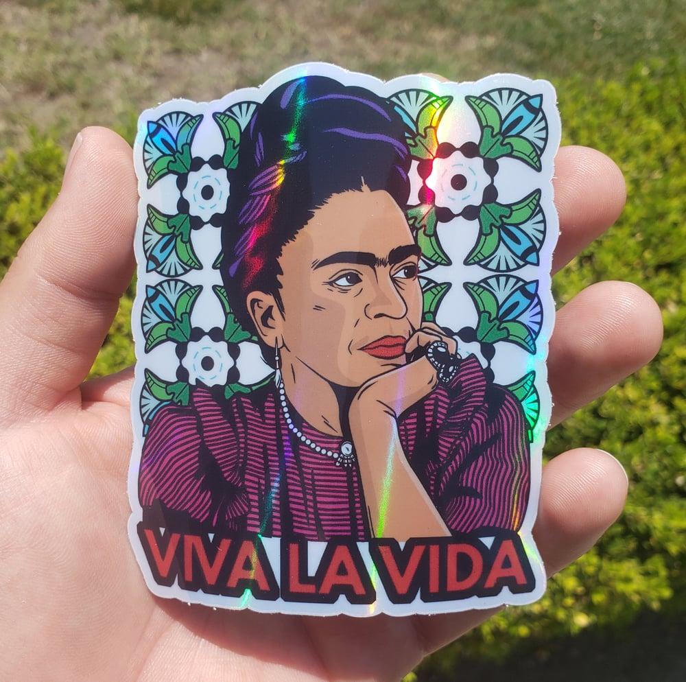 Viva La Vida Holographic Sticker
