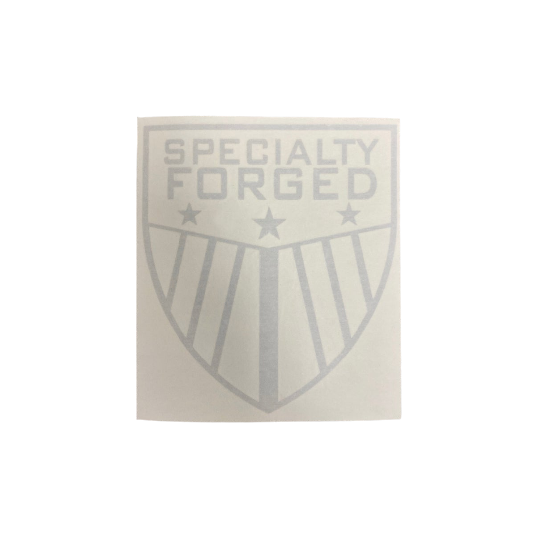 Image of SF Shield Die-Cut Decal: Brushed Silver