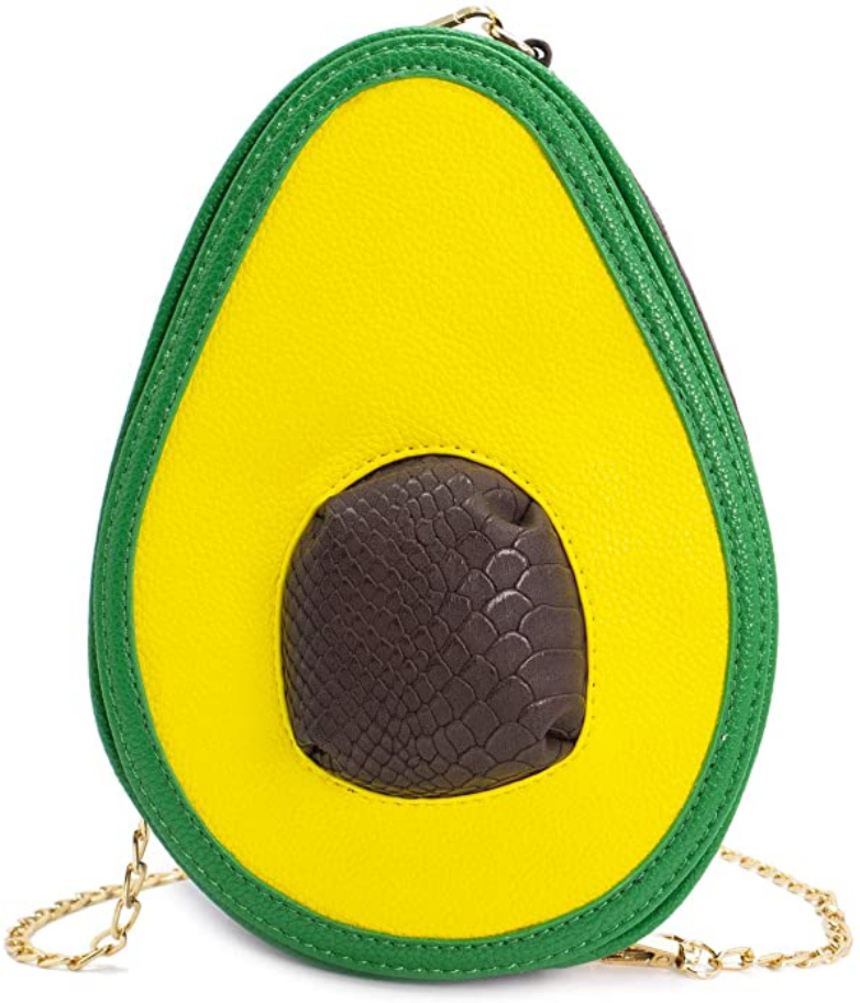 Image of AVOCADO HAND BAG WITH CHAIN STRAP ZIP UP PURSE