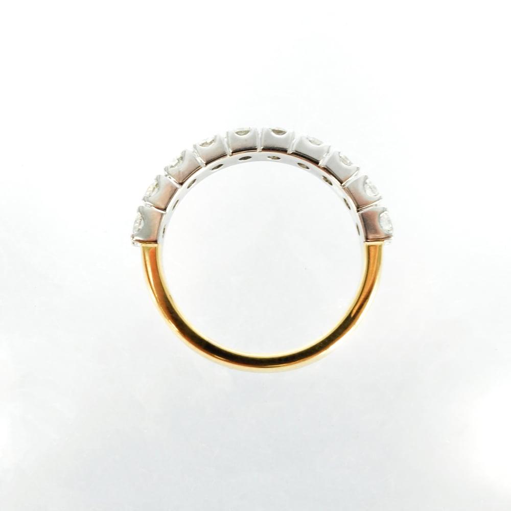 Image of 18ct yellow/white gold diamond set eternity band. Pj5772