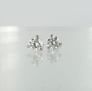 Image of 14k white gold diamond stud earrings, 2 = .50ct GSI2. PJ5820