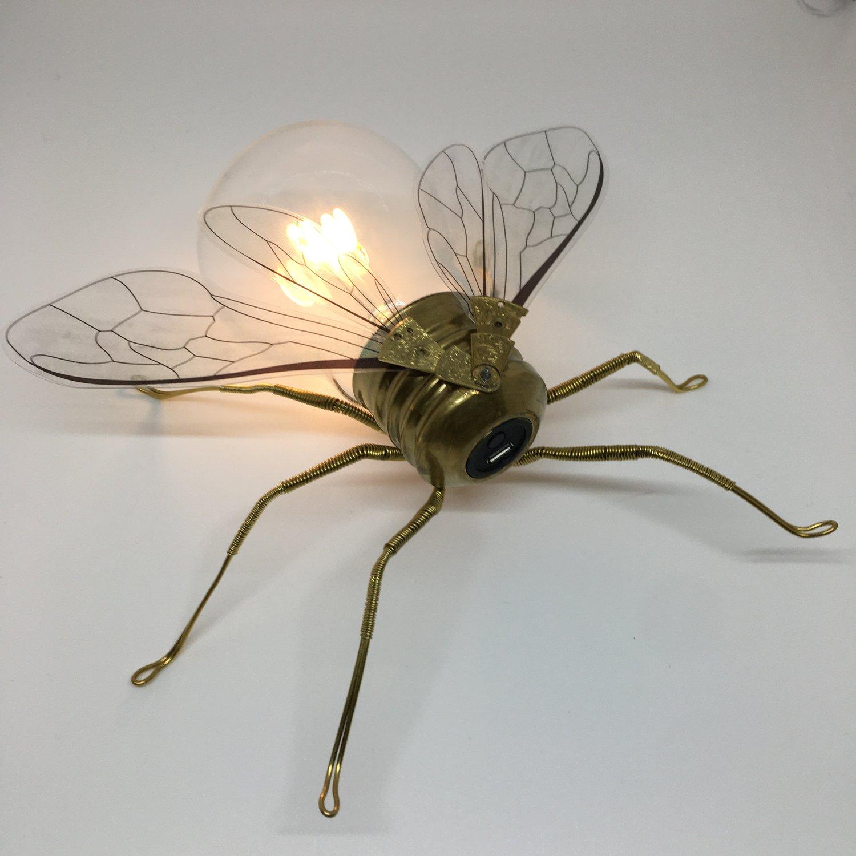 Steampunk USBee Light up Manchester bee sculpture art - Oddities and Curiosities