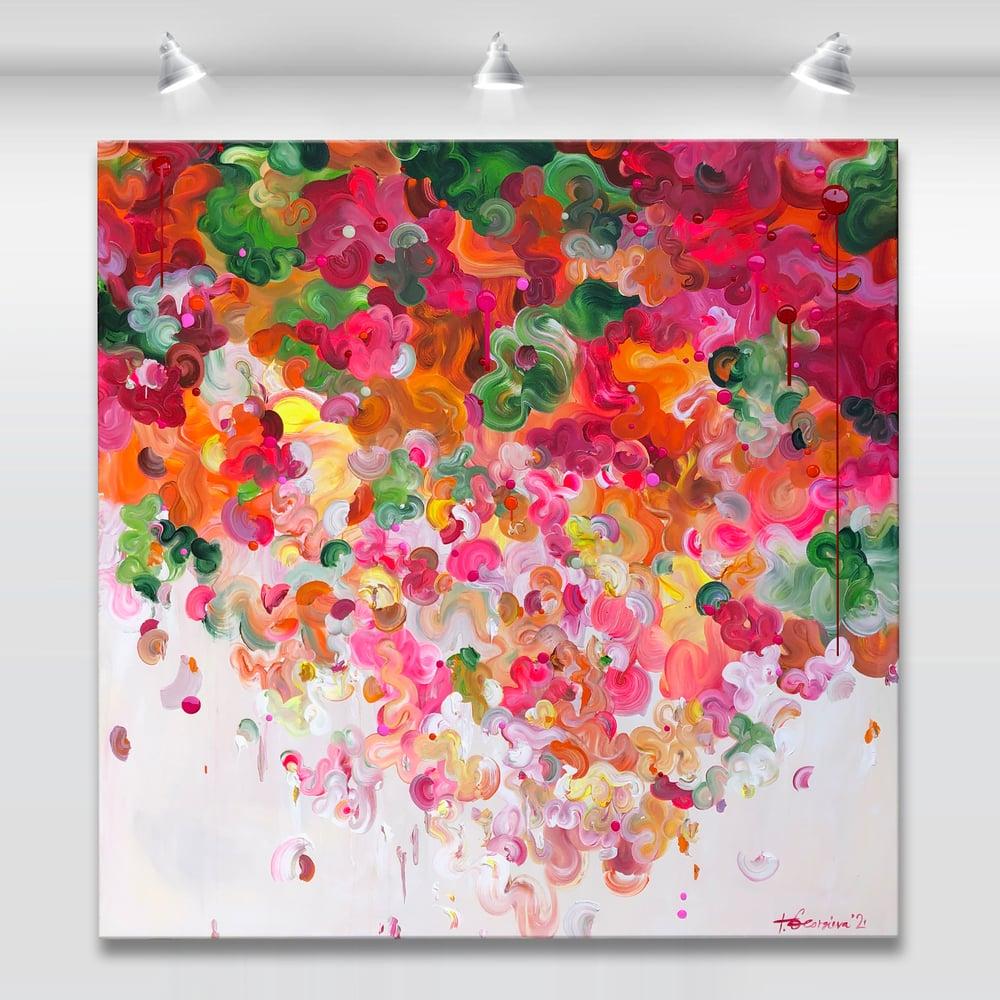 Image of Flore mandarin - 122x122cm