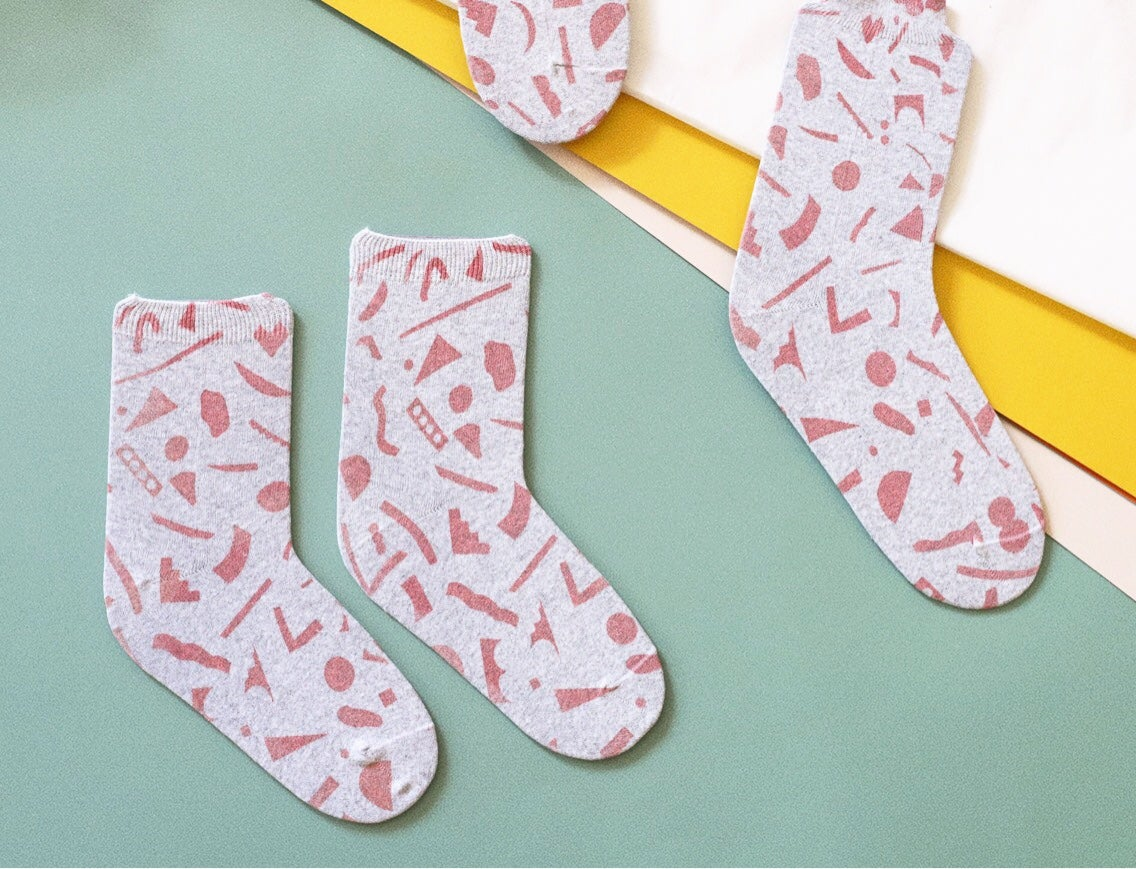 Image of PINK CUT OUTS SOCKS