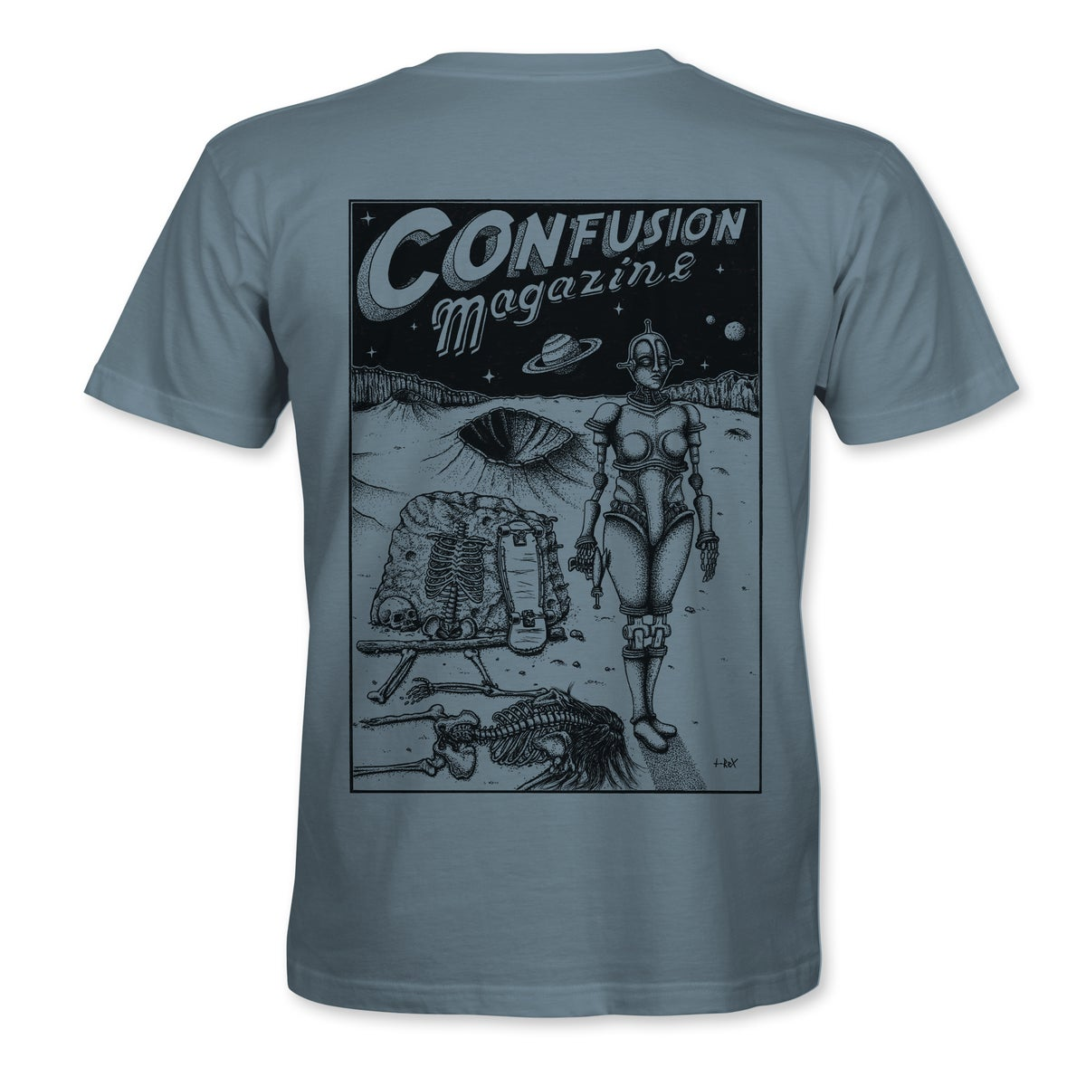"""Image of Confusion - """"Dystopia"""" t-shirt  [Stone Blue]"""