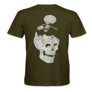 """Image of Confusion - """"Cranium"""" t-shirt  [Olive Green]"""