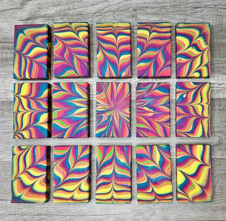 Image of Neon Burst Handmade Cold Process Soap