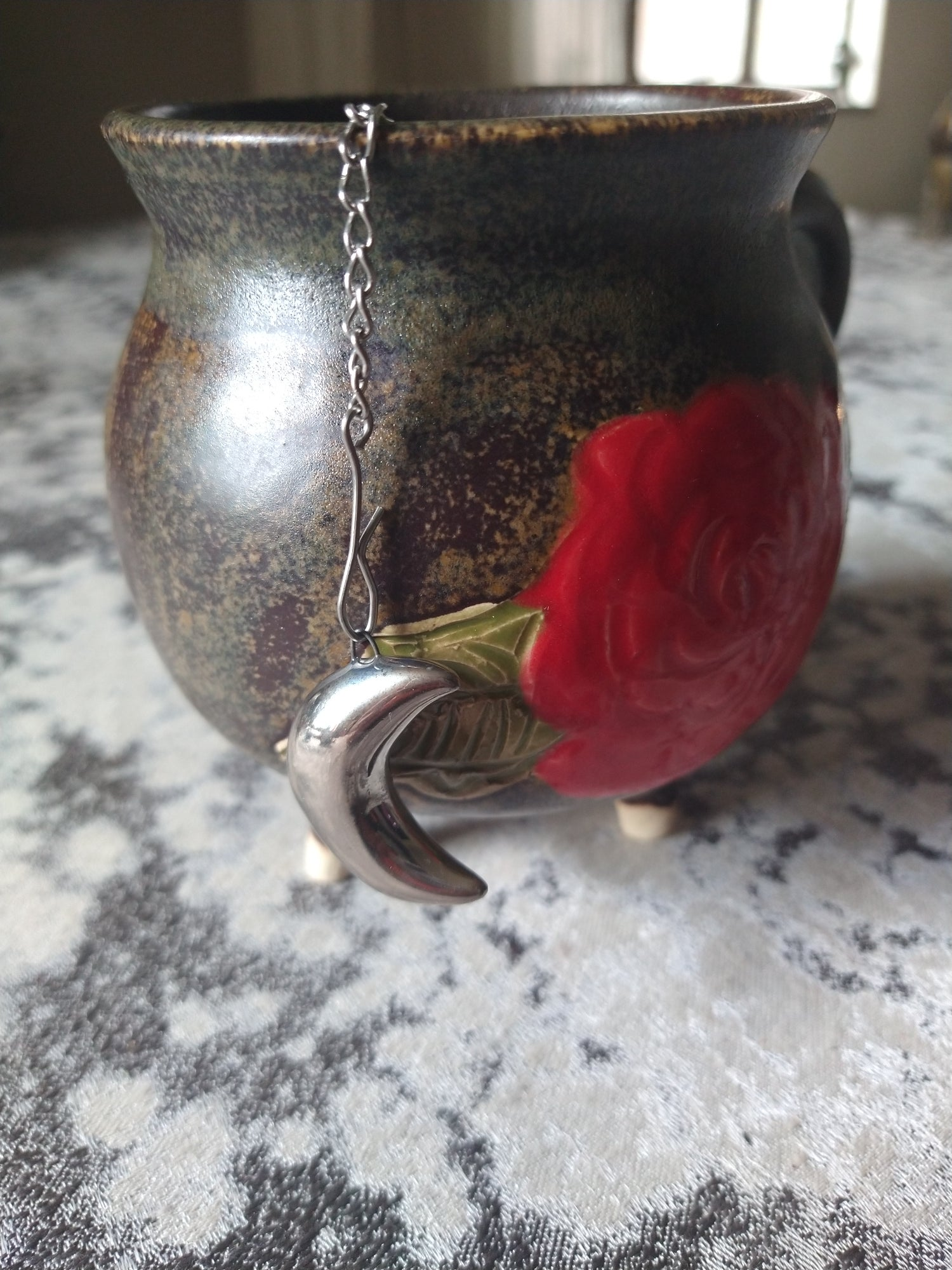Image of Silver Moon Tea Infuser OR necklace