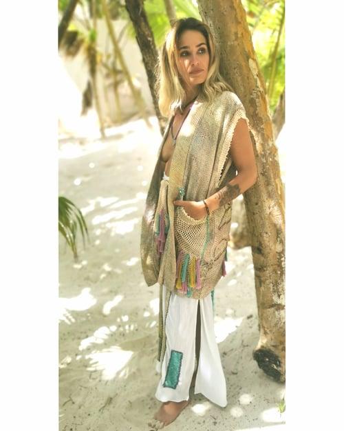 Image of Beige Shibori Outfit