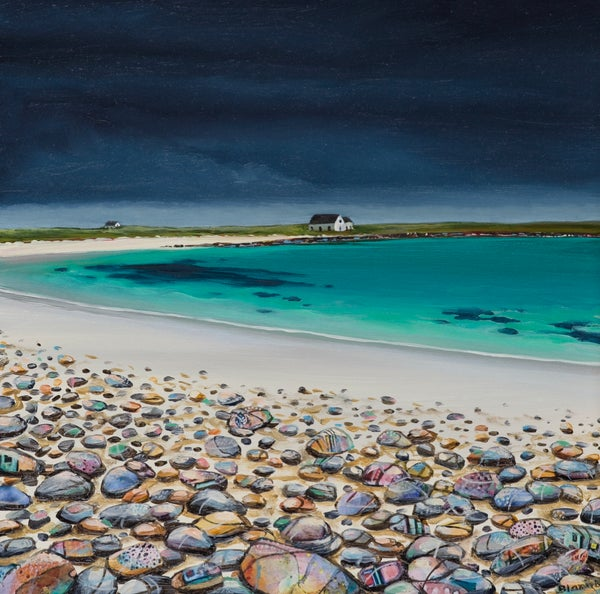 Image of Orkney pebbles giclee print