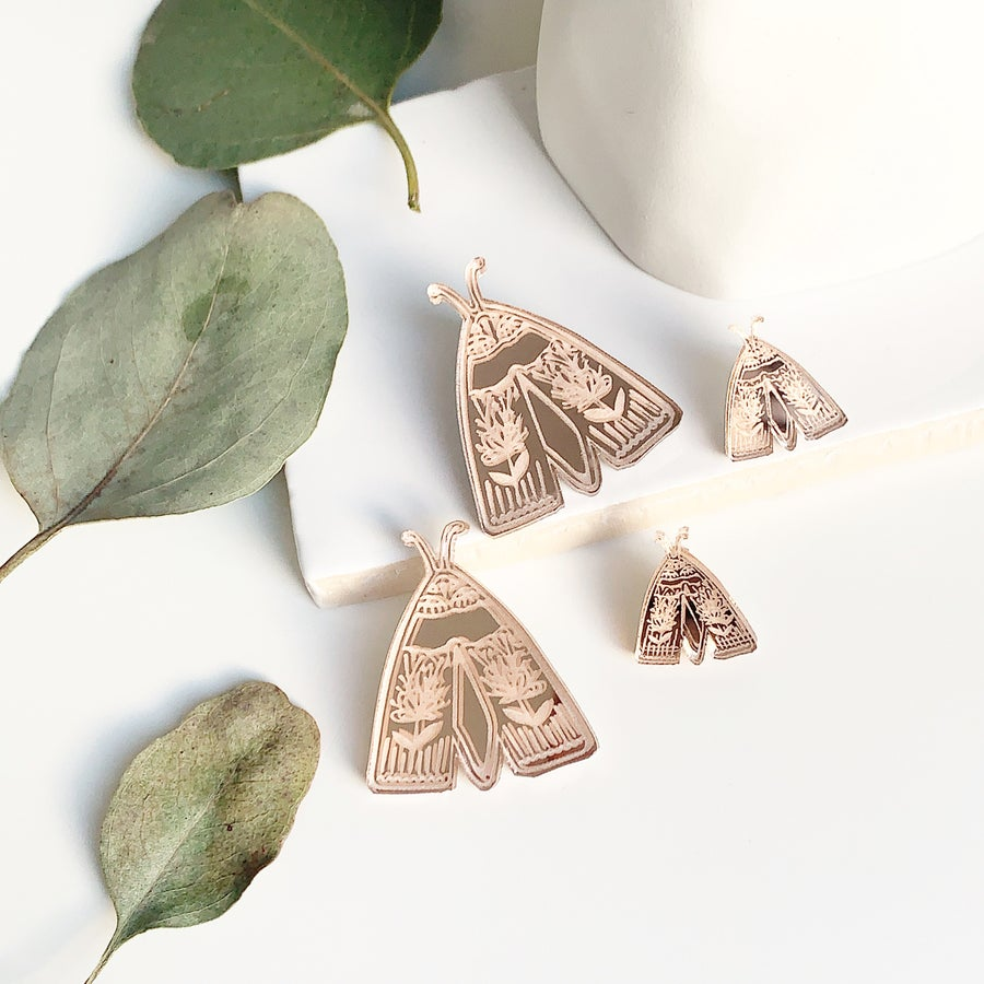 Image of Mythical Moth Studs