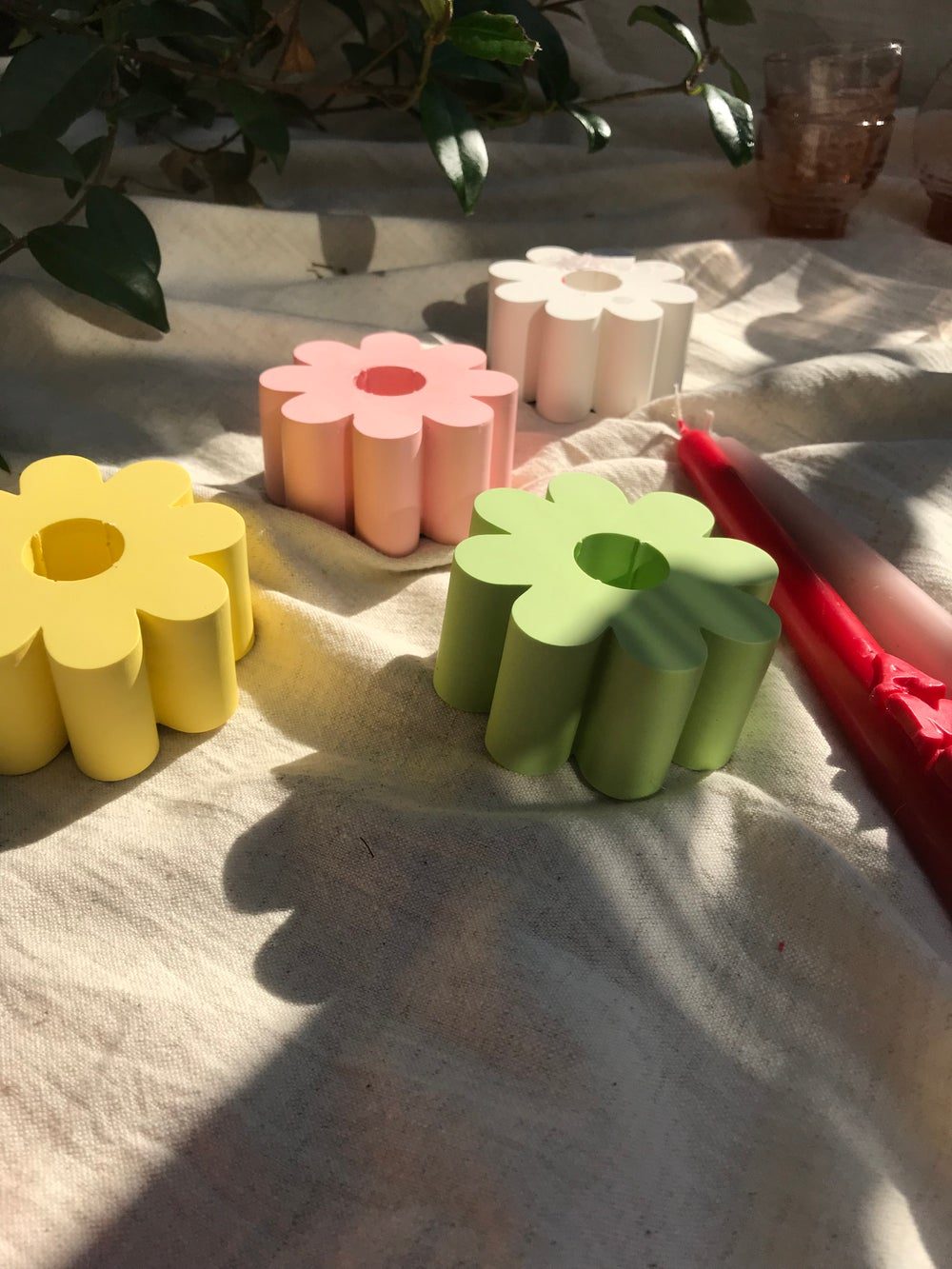 Image of Flower candle holders