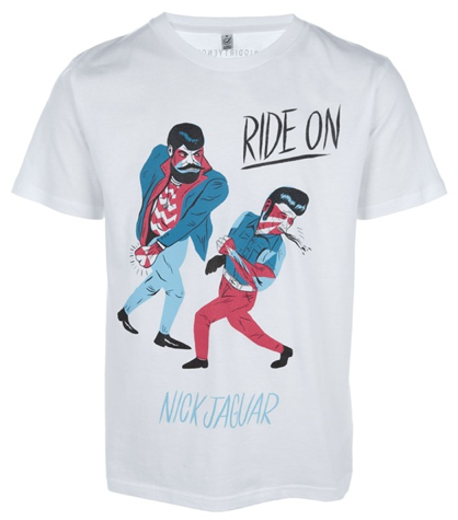 "Image of Nick Jaguar ""Ride On"" print T-Shirt for JaguarShoes Collective"