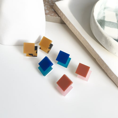 Image of Coloured Deco Studs