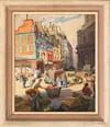 20th Century Swedish School 'A Busy Paris Street'