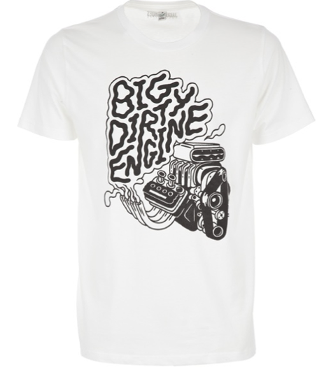 "Image of ""Big Dirty Engine"" print T-Shirt for JaguarShoes Collective"