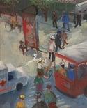 20th Century Swedish School 'The Red Tram'