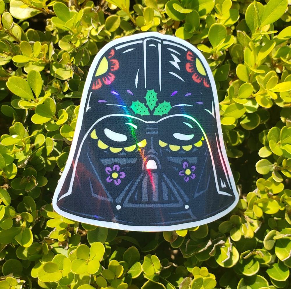 "Vader Calavera 3"" Holographic Sticker"