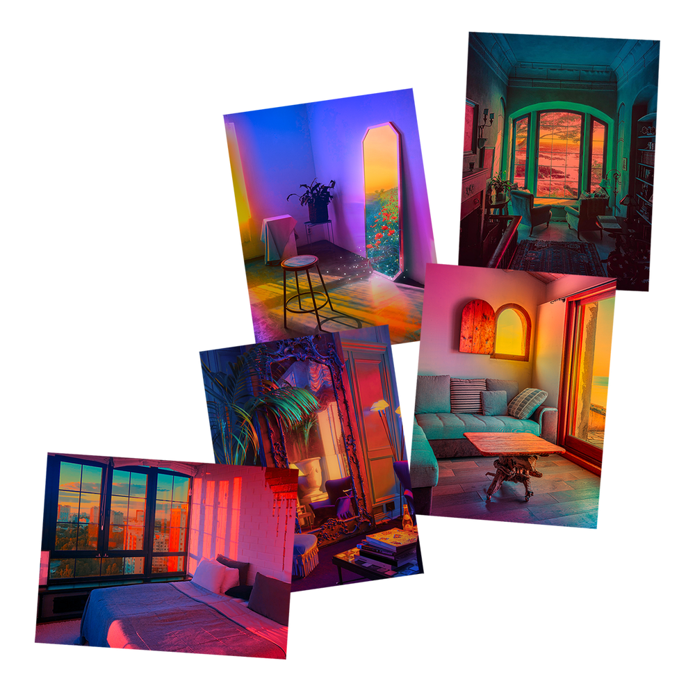 POSTCARD SET: Staying In