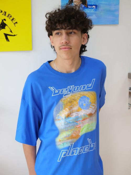 Image of Blue 'Beyond Placebo' T-Shirt