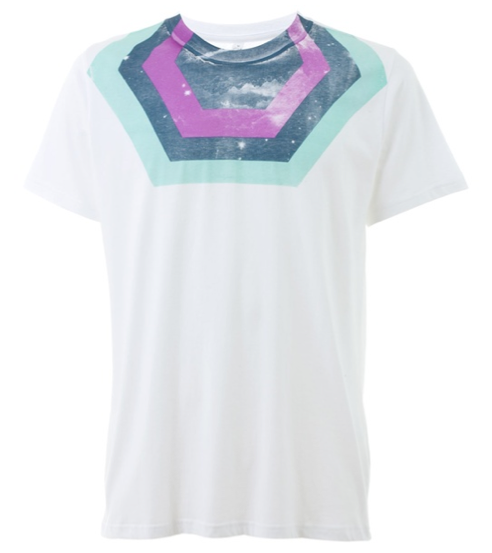 """Image of Chrissie Abbott """"Sky"""" print T-shirt for JaguarShoes Collective"""