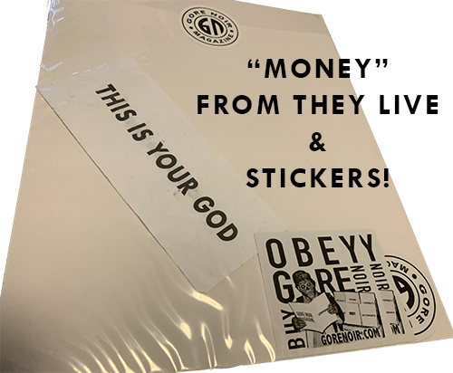 """Image of They Live Magazine with """"Money"""" & Stickers Package"""