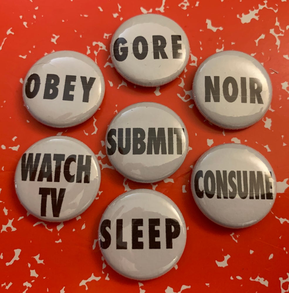 """Image of They Live Button Pack (7x 1"""" Buttons)"""