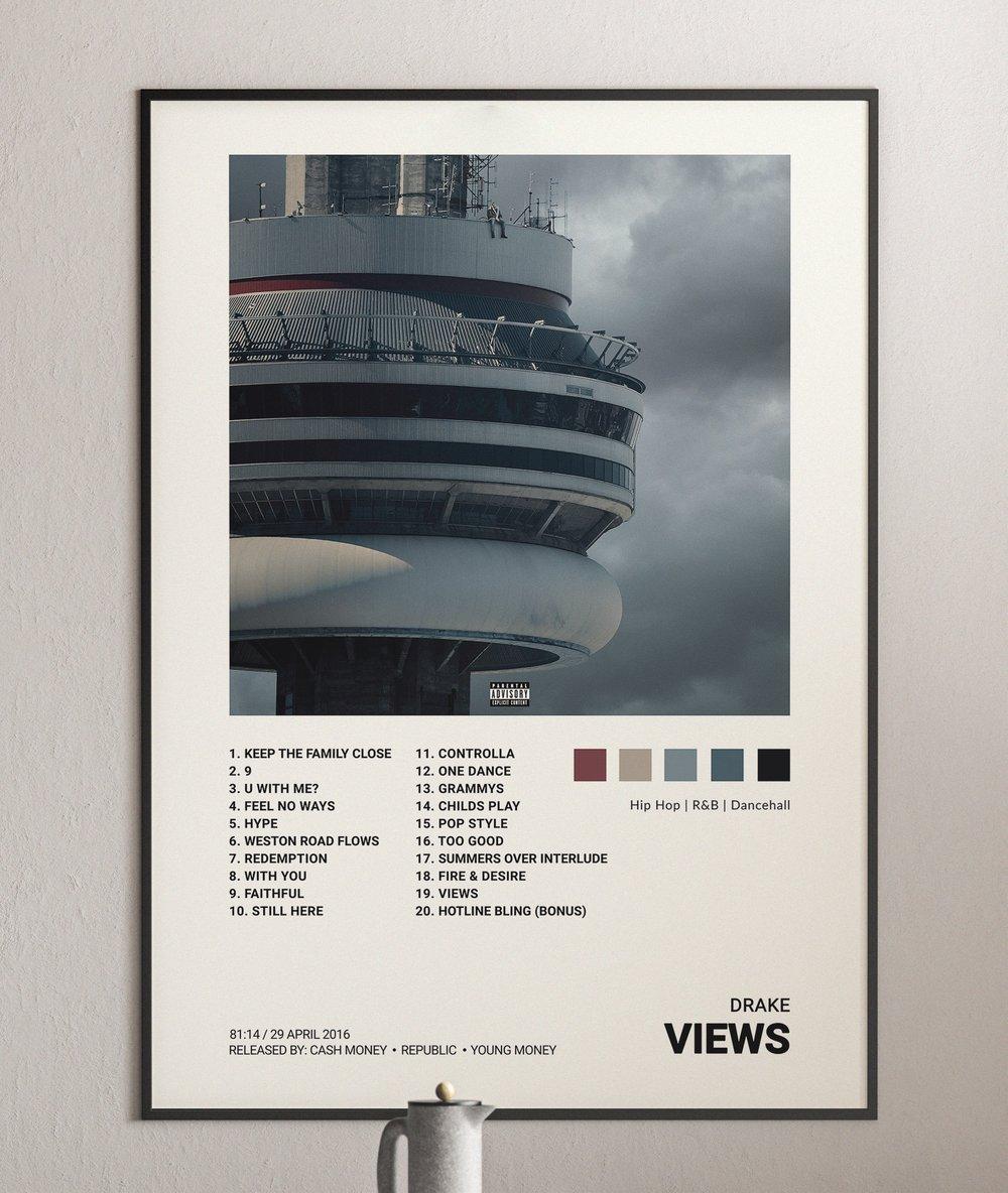 Drake - Views Album Cover Poster