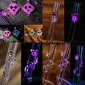 Hot Pink UV Reactive Ghost Glass Straws - Limited Edition