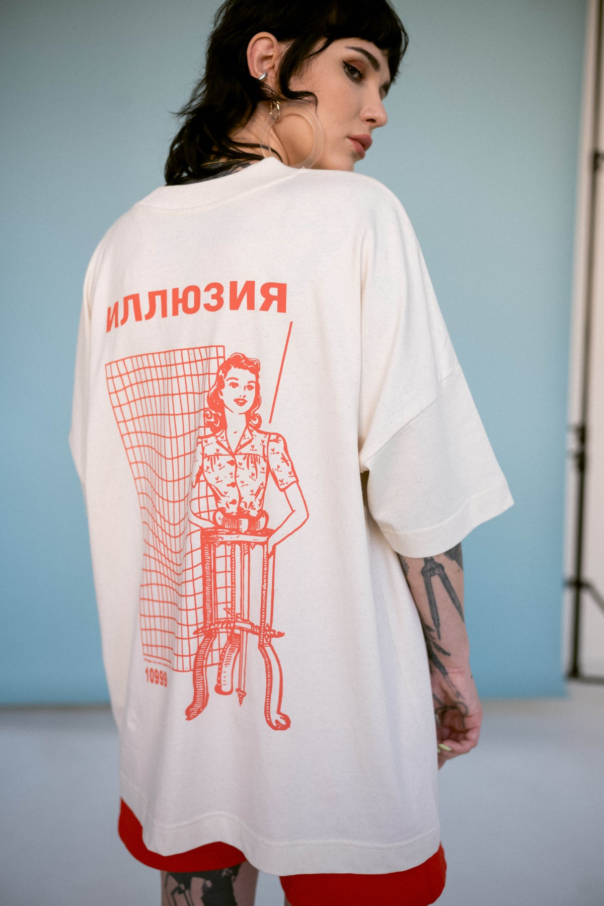 Image of ILLUSION tee red