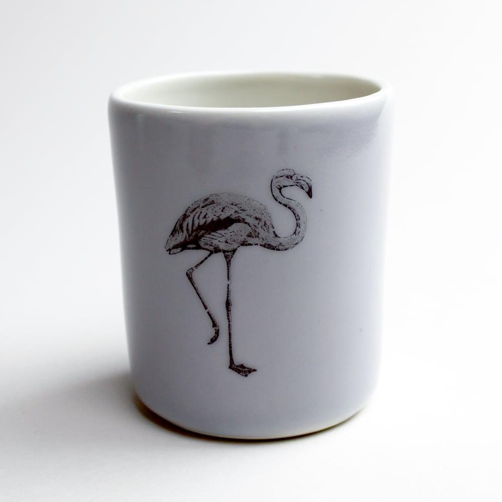 Image of 10oz tumbler with flamingo, lilac