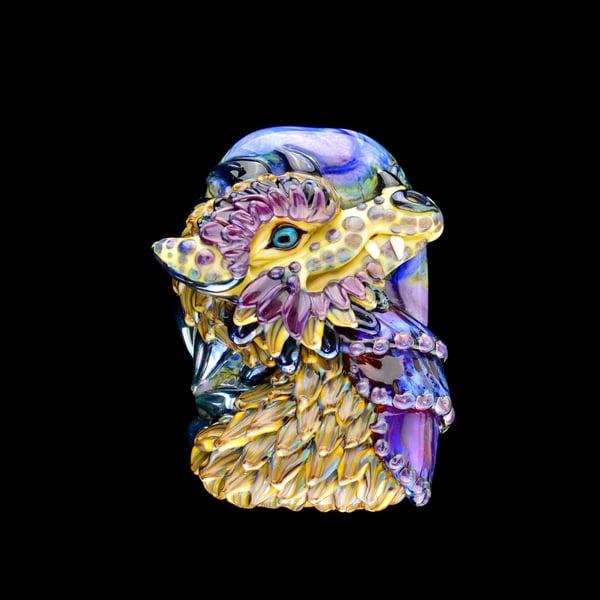 Image of XXXL. Golden Dragon - Flamework Glass Sculpture Bead