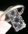 EDWARDIAN 1920S 18CT PLATINUM ART DECO PAVE SAPPHIRE OLD CUT DIAMOND 1.90 RING