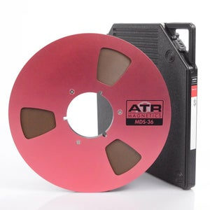 """Image of CARTON of  MDS-36 40907 1/4"""" x 3600' on 10.5"""" NAB Metal Reel in TapeCare Box"""