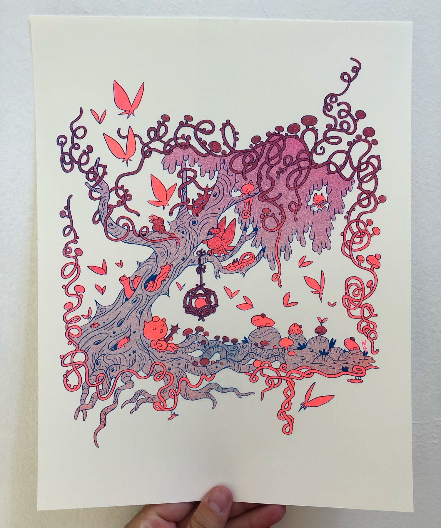 Forest Bugs Risograph Print