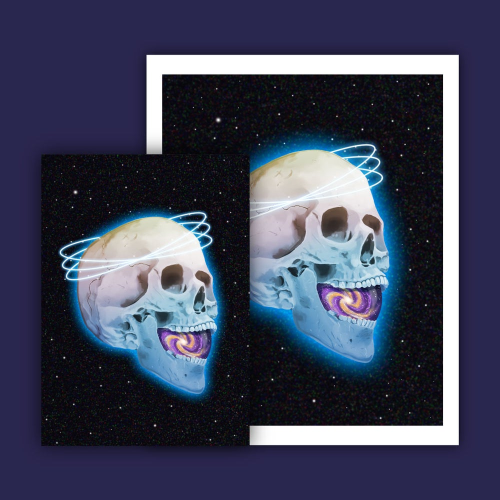 Image of Pre-Order: Cosmic Skull Holographic Print