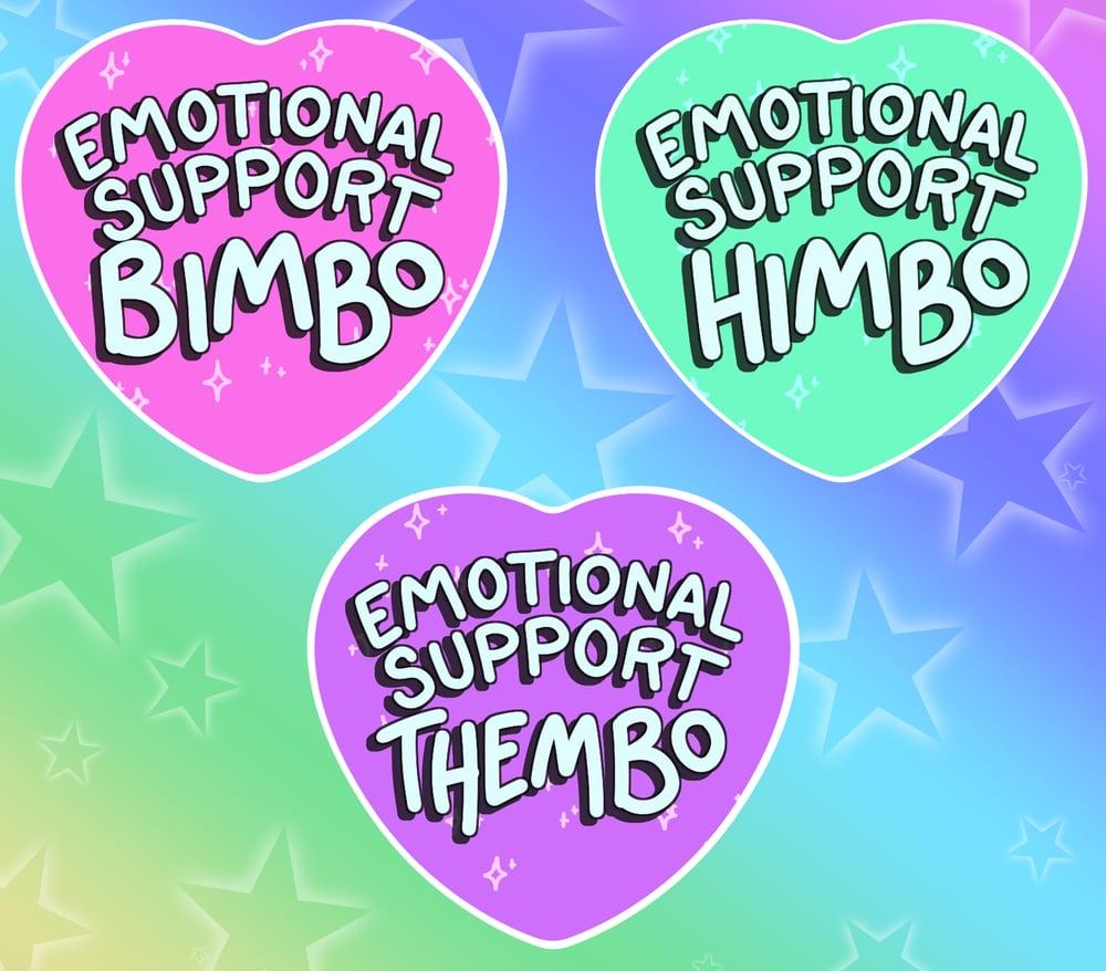Emotional Support Heart Buttons!