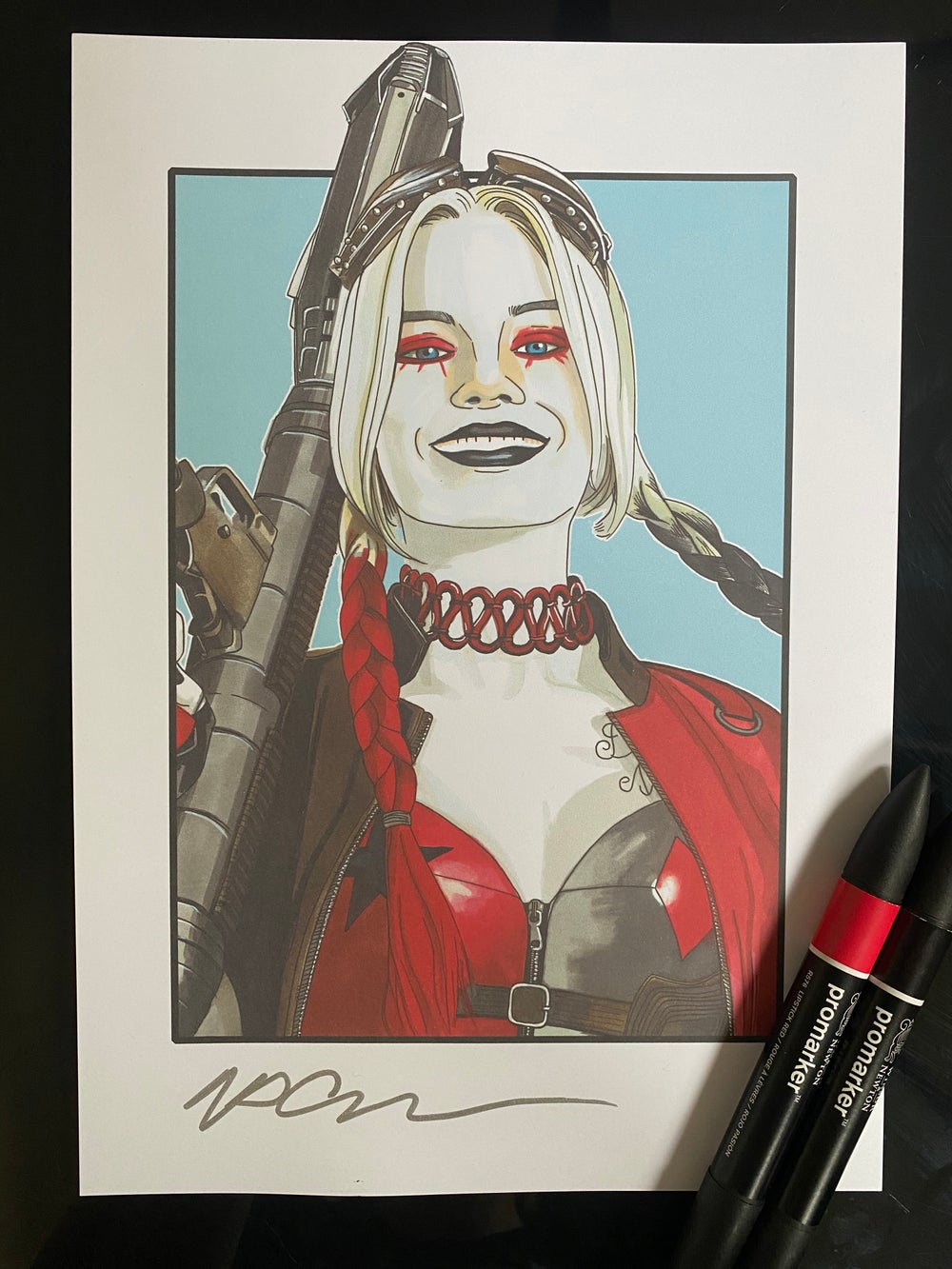 """Image of Harley Quinn Art Print A4 (12""""x8"""") Suicide Squad Margot Robbie"""