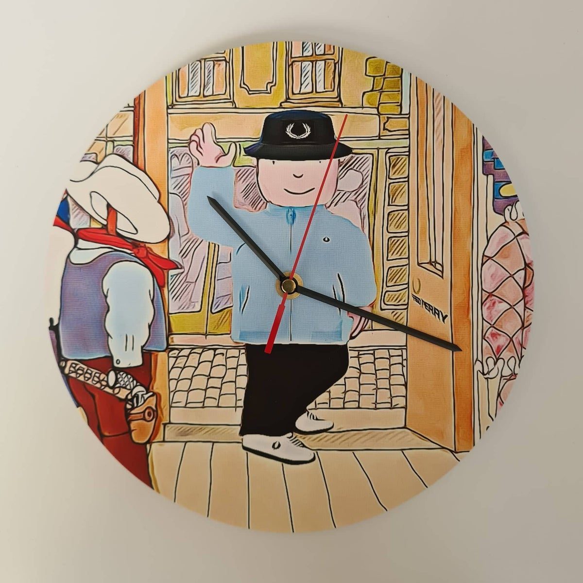 Image of MR BENN INSPIRED FRED PERRY CLOCK