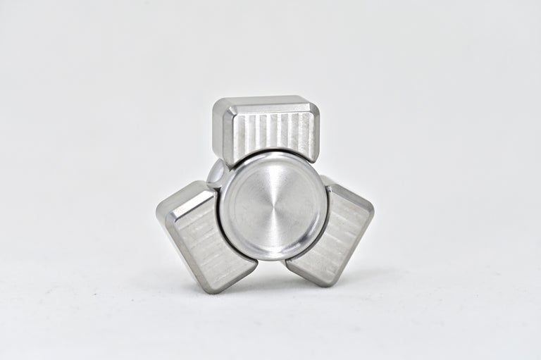 Image of W/Tungsten tri collision mini hand spinner