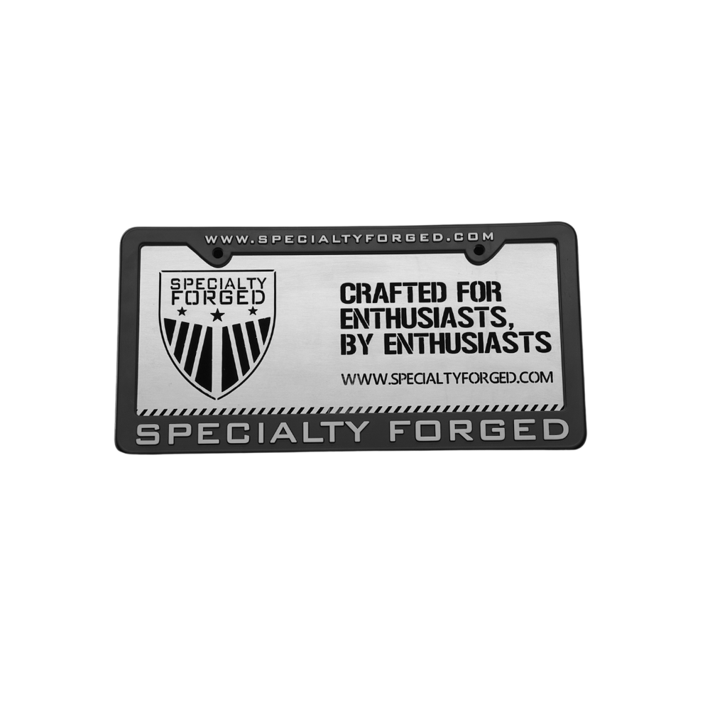 Image of Metal Crafted For Enthusiasts License Plate