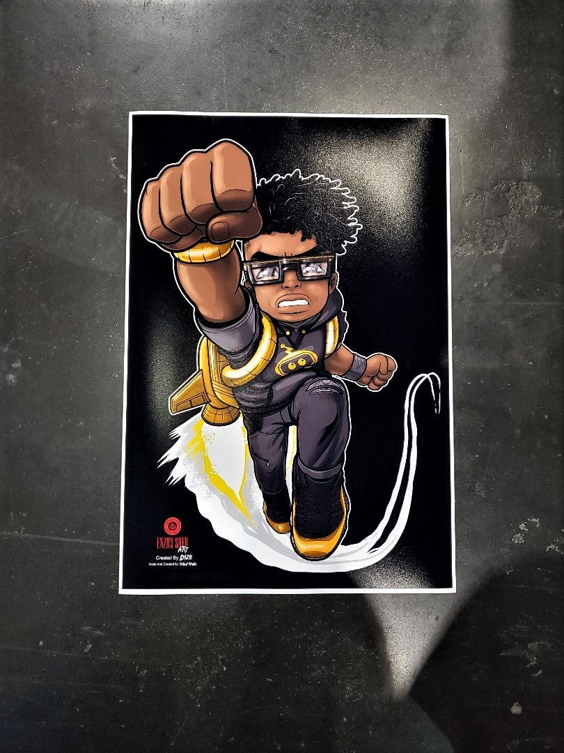 Image of Flying Inzzo Poster 13x19