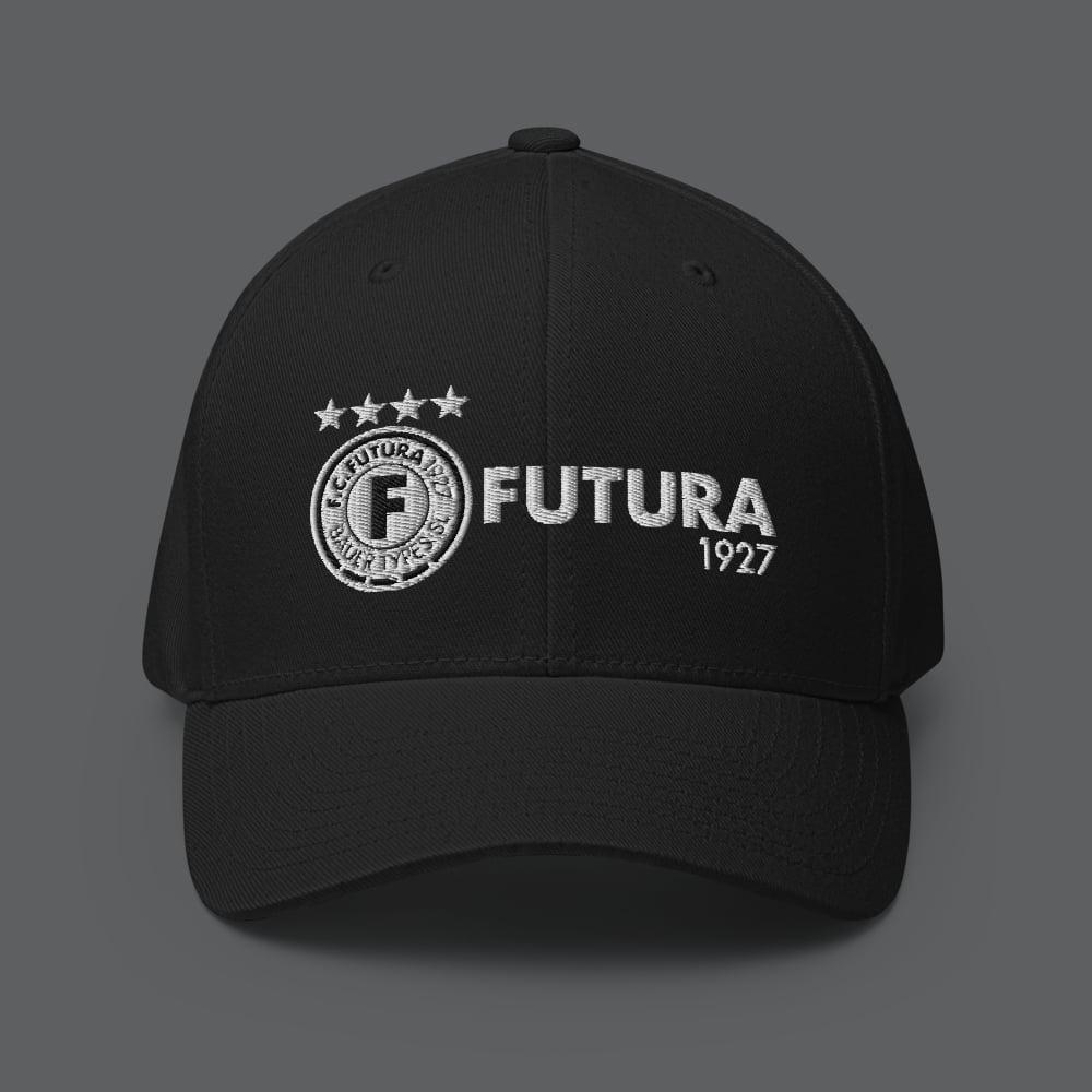 Image of TEAM FUTURA 1927 - FLEXFIT STRUCTURED CAP (BLACK)